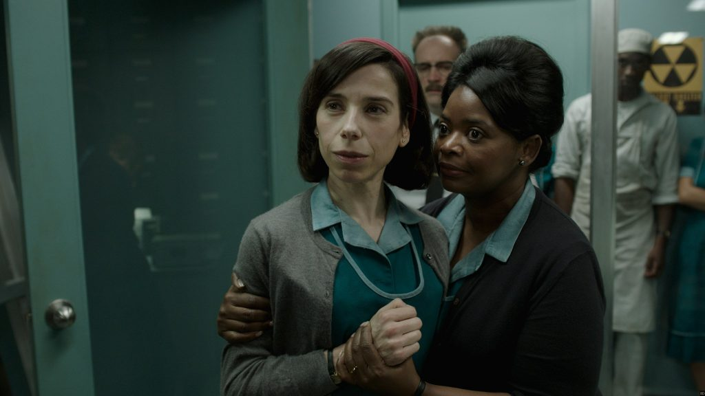 Sally Hawkins and Octavia Spencer in the film THE SHAPE OF WATER. Photo courtesy of Fox Searchlight Pictures.© 2017 Twentieth Century Fox Film Corporation All Rights Reserved
